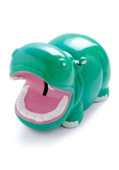 Swimming in Savings Bank from ModCloth ~ Don't let money float away by chucking pocket change - feed it to this ferociously cute hippopotamus and let your cash flow grow! With cute, cuddly features, a vibrant turquoise glaze, and mouth that's always open for more, this ceramic hippo bank from Streamline won't be starving for attention. Just slip your spare coins through the slot between its jaws until it's finally full - we promise it's worth the 'weight!'