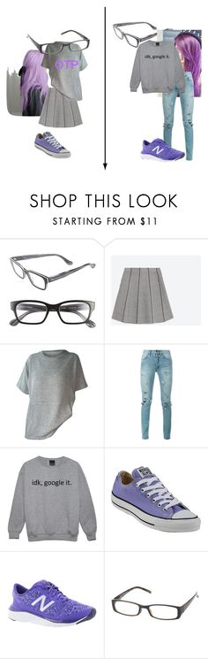 """""""Fanfic"""" by emiade ❤ liked on Polyvore featuring Corinne McCormack, Zara, Yves Saint Laurent, Converse and New Balance"""