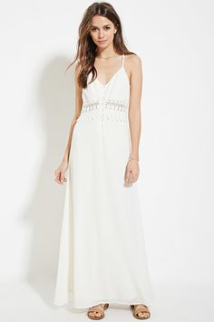 b81ab7b2a265e Forever 21 Contemporary - A woven crepe maxi dress with adjustable cami  straps