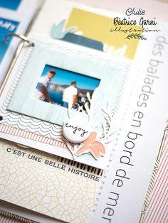 Mini Albums Scrapbook, Scrapbooking, Julie, Creations, Polaroid Film, Illustration, Digi Stamps, Adventure, White People