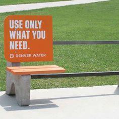 Denver Water startete mit Use Only What You Need eine geniale Guerilla Marketing Kampagne mit diesen großartigen Aktionen: