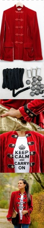 DIY Crimenes de la Moda - chaqueta militar - military jacket