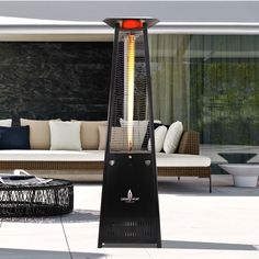 When the weather gets chilly, the Lava Heat Italia A-Line Lavalite Natural Gas Patio Heater keeps your space warm and comfortable. Heater has an electronic ignition, auto-shutoff, and adjustable heat settings. Encased in a boroscilicate glass tube. Natural Gas Patio Heater, Propane Patio Heater, Outdoor Heaters, Tower Heater, Door Storage, Pick Up, Lava, Outdoor Decor, Ebay