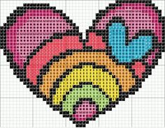 free crochet & cross stitch graphs  | free cross stitch chart | Picture this: Knitting and Crochet Charts a ...