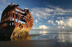 Peter Iredale shipwreck on the Oregon coast.............. ................................♥...Nims...♥