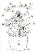 snowman gatherings patterns | Welcome Snowflakes-snowman,stitchery,pattern