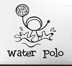 Wall Stickers Vinyl Decal One of the Sports Water Polo Funny Image (n307)
