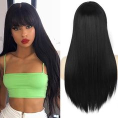 Short Bob Wigs, Short Bob Hairstyles, Hairstyles With Bangs, Blonde With Pink, Brown To Blonde, Straight Black Hair, Straight Bob, Short Scene Hair, Ombre Blond