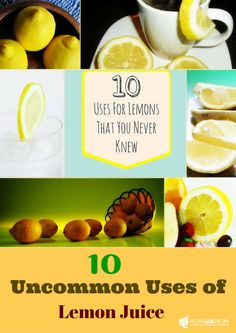 Read about these mosgt unnatural uses of lemon. Some may surprise you!