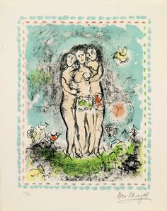 Chagall, The Three Nudes (M.1028)