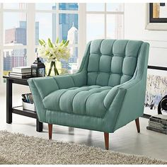 response laguna fabric tufted armchair