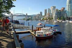 Granville Island - Vancouver.  Taking water taxi across to Vancouver.
