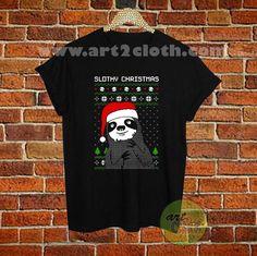 Slothy Xmas T Shirt