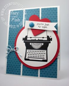 I just bought this stamp set ... LOVE! Card from Stampin' Pretty