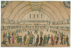 Chestnut Street Skating Rink at 23rd and Chestnut Streets | Image: Library Company of Philadelphia