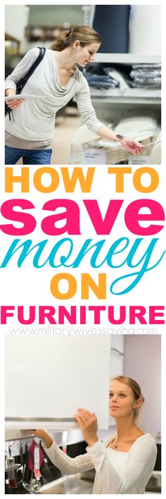 How To Save Money When Buying Furniture - If you are moving, PCS'ing, or just need to replace tattered furniture, be sure to check out these tips on how to save money when buying furniture!