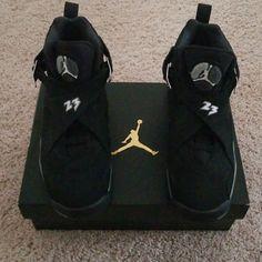 huge discount b93d4 1e082 Jordan Shoes   Air Jordan Viii Retro Black White Light Sz 5.5   Color  Black  White   Size  5.5bb