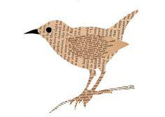 bird on branch paste piece