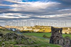 The view overlooking Edinburgh from he ruins of St Anthony's Chapel, Holyrood Park.  Picture Credit : Simon Williams / Scottish Viewpoint    Tel: +44 (0) 131 622 7174   E-Mail : info@scottishviewpoint.com   This photograph cannot be used without prior permission from Scottish Viewpoint.