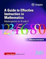 "The ""Big Ideas"" in Measurement: Attributes, Units, Measurement Sense, Measurement Relationships & Learning Activities for Measurement"