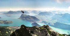 Einmal frei wie ein Vogel über diese Traumlandschaft gleiten🦅 - das wünschen wir uns wohl alle. Von den Berggipfeln aus können wir zumindest auch einmal die Welt von oben betrachten. Grindelwald, Mount Everest, Outdoors, Mountains, Nature, Travel, Enjoy The Silence, Great Lakes, Swiss Alps