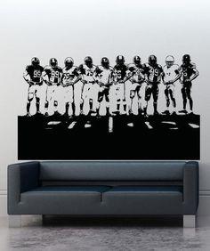 Vinyl Wall Decal Sticker Football Team #5085