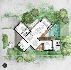 House Layout Plans, Dream House Plans, Modern House Plans, House Layouts, Concept Board Architecture, Architecture Plan, Architecture Details, The Plan, How To Plan