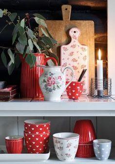 GreenGate Elouise, Riley,Avery en Penny - Sfeer & Scent Latte Cups, Bella Rose, Gates, Planter Pots, Shops, Mugs, Tableware, Teller, Design