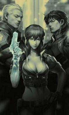 Cyberpunk, Ghost in the shell Manga Anime, Comic Manga, Anime Comics, Manga Art, Anime Art, Fantasy Anime, Chica Fantasy, Sci Fi Fantasy, Cyberpunk 2020