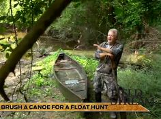 camo job for a canoe used for mobile duck hunting.