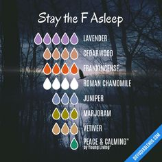 Stay the F Asleep - Essential Oil Diffuser Blend