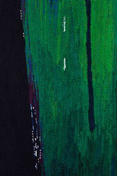 "misao watanabe is weaving artist in Japan : ""Green Scenery"" 190x200 cm, wool cotton, 2012wea"
