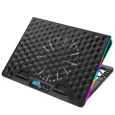 AICHESON RGB Laptop Cooling Cooler Pad for 17-20 Inch Notebook 1 Fan Heavy Coolers Pads, 2 USB Ports, AA2 - Tofsh Laptop Cooling Stand, Laptop Cooler, Desktop Speakers, Groove Metal, Passive Radiator, Computer Shop, Home Technology, Metal Mesh, Docking Station