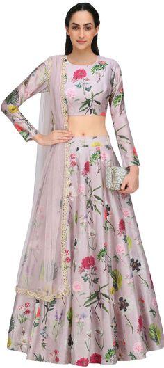 Payal Singhal presents Lilac bageecha print lehenga set available only at Pernia's Pop Up Shop. Indian Attire, Indian Wear, Indian Dresses, Indian Outfits, Indian Clothes, Floral Lehenga, Lehenga Choli, Anarkali, Lehnga Dress
