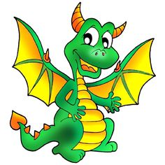 cute dragons cartoon clip art images all dragon cartoon picture rh pinterest com clipart dragon wings clip art dragon guarding grave