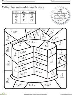 Pattern For Kindergarten Worksheets Word Free Printable Multiplication Worksheets  Math Printables  Worksheet For Class 6 Science Pdf with Proportions And Similar Figures Worksheet Excel Multiplication Color By Number Cake Vowels And Consonants Worksheets For Kids Excel