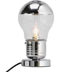 Buy Argos Home Bulb Touch Table Lamp - Chrome Marvel Room, Touch Table Lamps, Industrial Interior Design, Argos, Light Bulb, Bubbles, Chrome, Lighting, Stuff To Buy