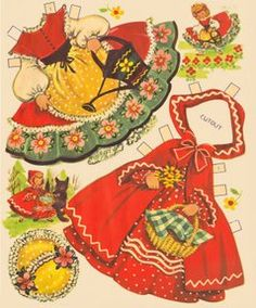 paper dolls... Red Riding Hood