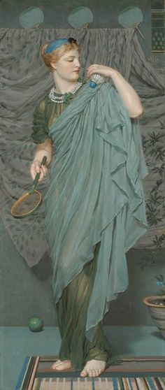 Battledore (1868-1870).  Oil on canvas by Albert Moore (British, 1841-1893).  Image and text courtesy MIA.