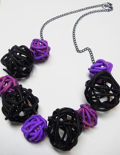 Polymer Clay Necklace by MudballMermaid, via Flickr