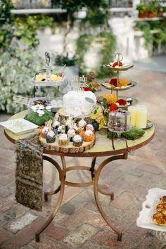 Inspiração para um casamento no outono. #casamento #inspiração #outono #bolodosnoivos #doces #mesadedoces