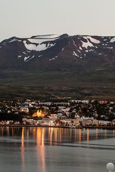 Akureyri (Iceland) by Guðjón Ottó oh my goodness this has to be right near our cottage was in akuyreri