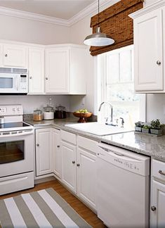 Make A Small Kitchen Look Larger Kitchen Pinterest Cabinet - Grey cabinets in small kitchen