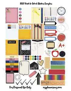 ECLP Back to School Sticker Sampler | My Planner Envy
