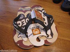 Men's Ocean Minded flip flops thongs sandals crocs 8 brown ethic OM166 NEW NWT