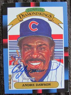 1988 Donruss #9 Andre Dawson (TTM) $5 donation for 4 cards