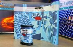 Een week of 3 terug een nieuwe beurswand geleverd voor de firma Hettich Automation.