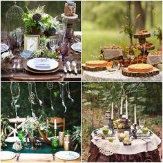 Декор свадебного стола в лесном стиле