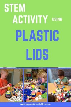 A fun STEM activity using plastic lids with preschoolers   PA's Promise for Children