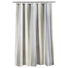 Threshold� Stripe Shower Curtain - Gray